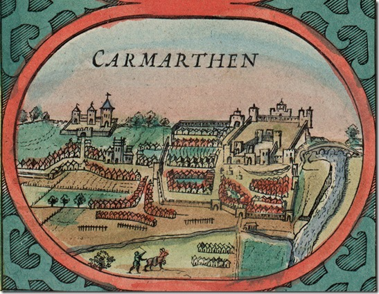Carmarthen castle 1610