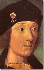 Young Henry VII at French court