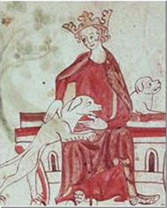King John with two hounds