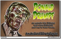 trump as a zombie