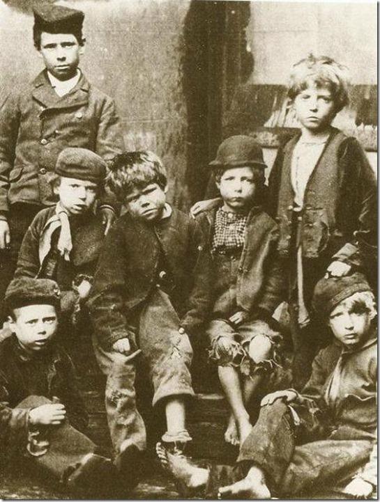 victorian slum children