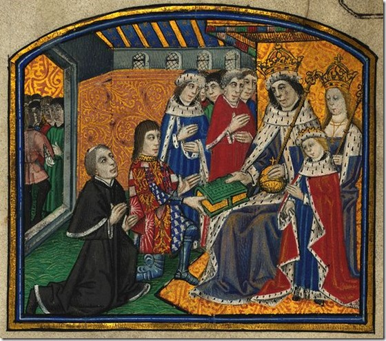 Anthony Woodville, Earl Rivers, and Caxton_Presenting_book_to_Edward_IV
