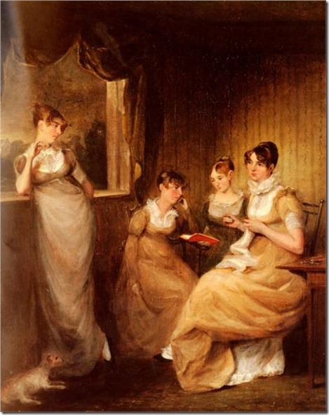 regency reading ladies-from-the-family-of-mr-william-mason-of-colchesterlarge