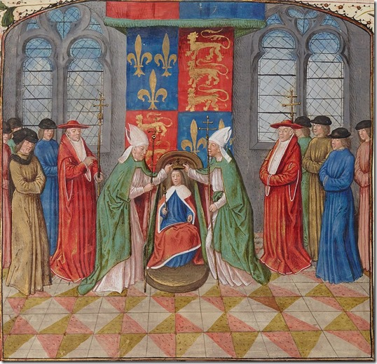 Henry VI being crowned King of France as a child