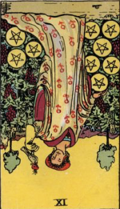 Nine of Pentacles tarot card