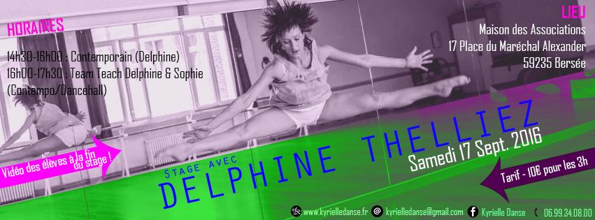 STAGE Contemporain avec Delphine Thelliez │Sam.17/09/16 │ Bersée