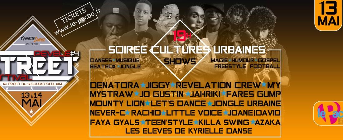 SOIRÉE CULTURES URBAINE | SAMEDI 13 MAI
