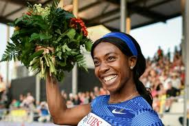 Double-Olympic-100-metres-champion-Shelly-Ann-Fraser-Pryce-will-go-head-to-head-with-British-sprint-star-Dina-Asher-Smith-at-the-Anniversary-Games-in-London-this-weekend..jpg
