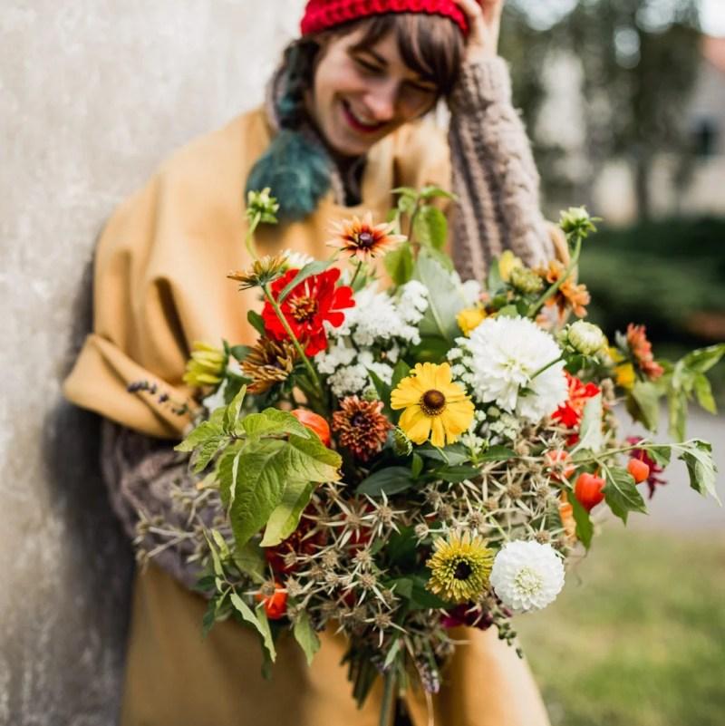 Květiny na podzim