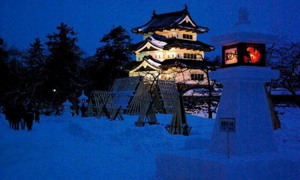 hirosaki_castle_yuki_doro_matsuri