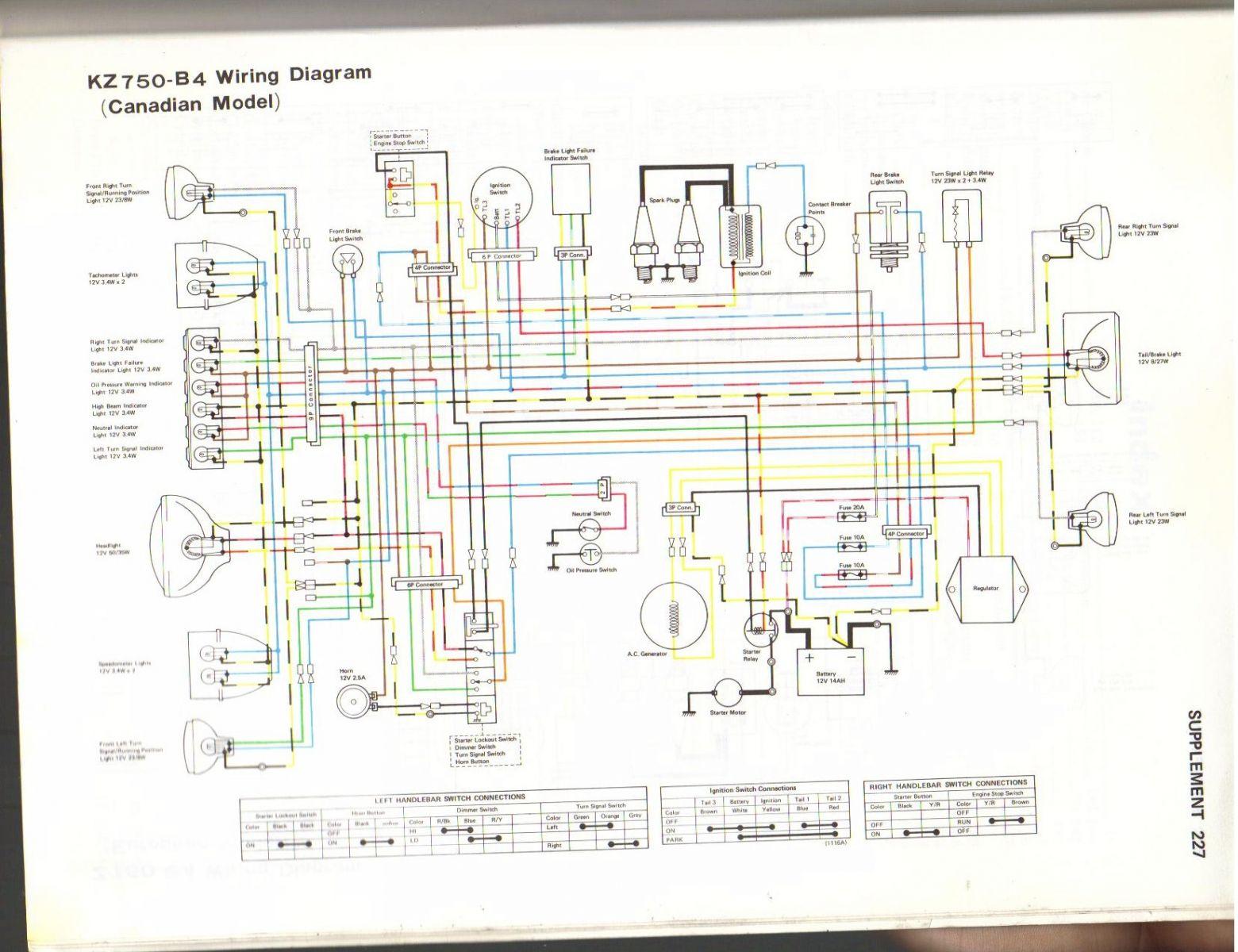 1982 Kawasaki Kz550 Wiring Diagram Z 550