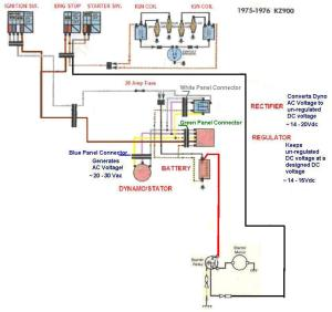 1977 kz1000 simple wiring diagram  KZRider Forum