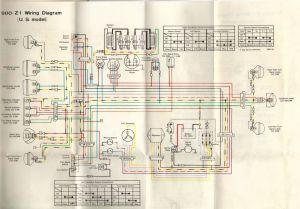 1975 Z1 900 20amp fuse blowes imediately  KZRider Forum