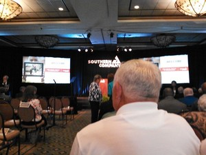 300x225 Setting up for the meeting, in Slight changes at Southern Company, by John S. Quarterman, 29 May 2014