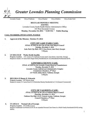 300x388 Page 1: Lake Park R-P, Lowndes County C-G, Valdosta R-M, in Agenda, by John S. Quarterman, 24 November 2014