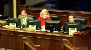 300x166 Staff left: County Planner Jason Davenport, Finance Director Stephanie Black, IT Director Aaron Kostyu, in Loco videos, by John S. Quarterman, 9 December 2014