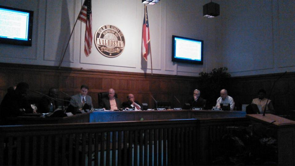 960x540 Council discussing the resolution, in Valdosta Draft Resolution Against Sabal Trail Pipeline, by Valdosta City Council, 10 December 2014