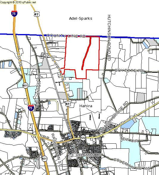 534x586 Map, in 7275 Buck Cato Road, by John S. Quarterman, 26 May 2015