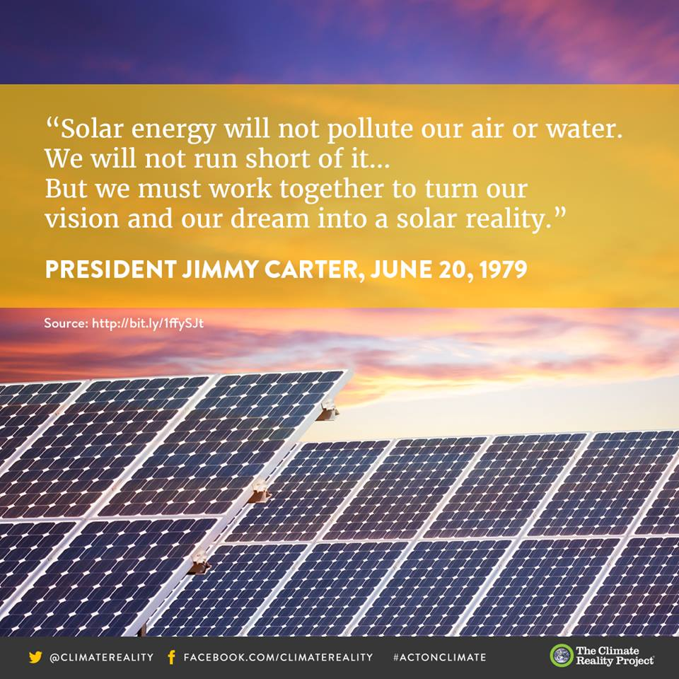 960x960 10360845 897383750328270 6241606373708524983 N, in Work together to turn our vision and dream into a solar reality --Jimmy Carter, by Climate Reality Project, 20 June 1979