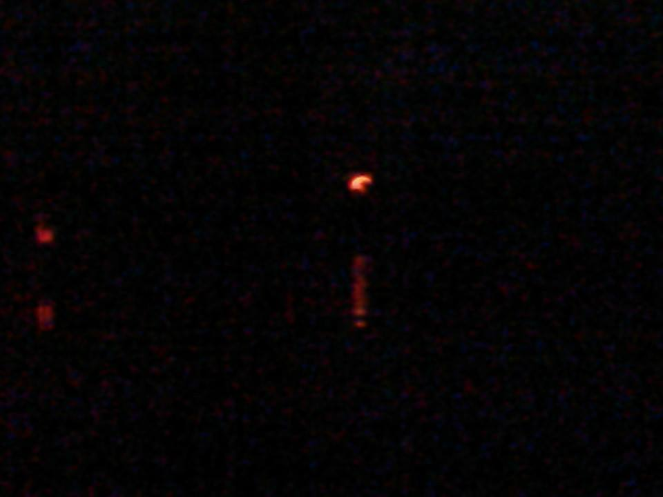 960x720 Moonrise with lights, in Banks Lake Full Moon, by John S. Quarterman, 13 June 2014