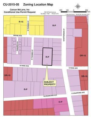Zoning Location Map