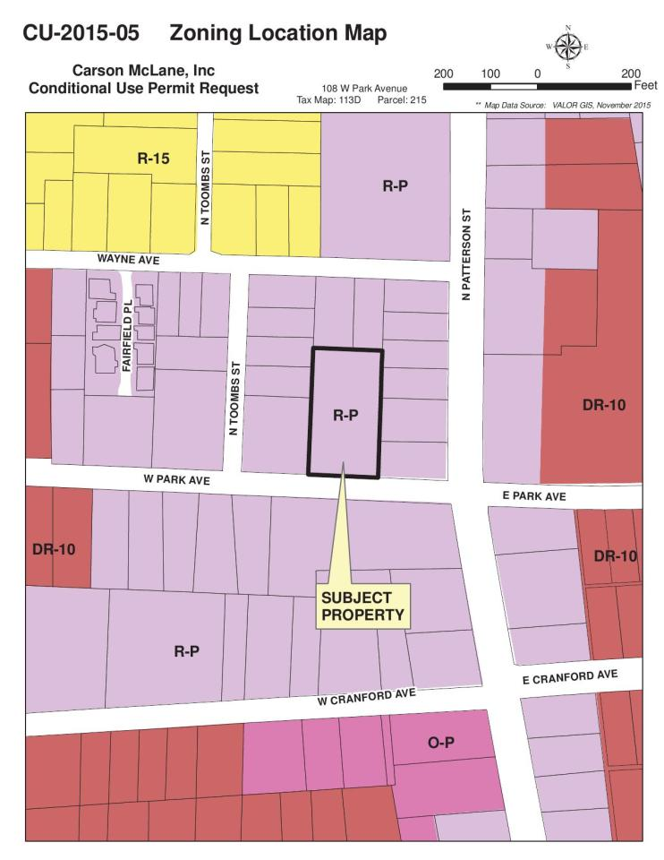 1275x1650 Zoning Location Map, in Valdosta items for GLPC, by Teresa Bolden, 30 November 2015