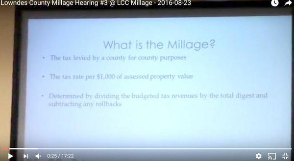 What is the millage?