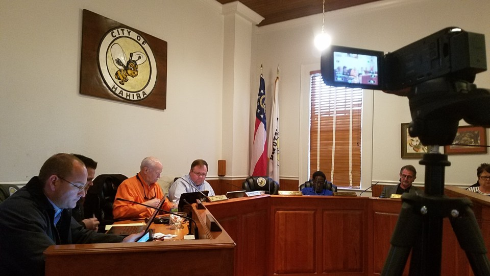 2560x1440 Camera, City Council, in Hahira Work Session, by John S. Quarterman, 30 January 2018
