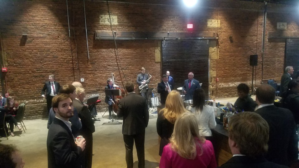 4032x2268 Lowndes County Chairman Bill Slaughter, Valdosta Mayor John Gayle, Inside, in Lowndes County Bird Supper, Atlanta, GA, by John S. Quarterman, for www.l-a-k-e.org, 13 February 2019