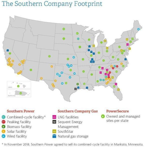 Facilities, Southern Company, Maps