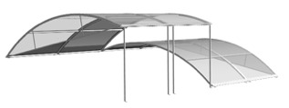 abri piscine en profilé aluminium