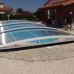Abri piscine thermolaqué