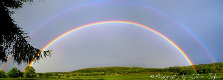 Ein Regenbogen Wirkt Wie Ein Wunder Der Natur Der Regen