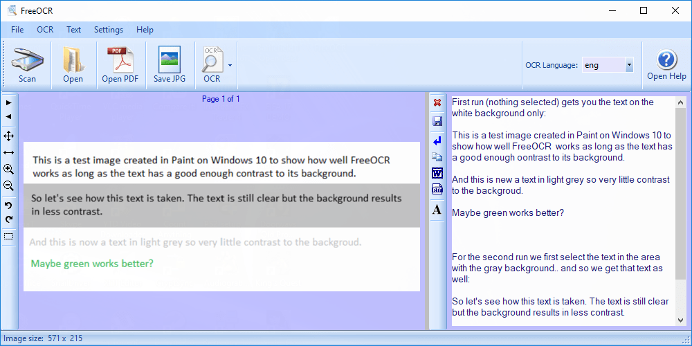 FreeOCR is a free optical character recognition software for