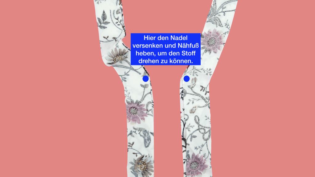 Blende nähen - Anleitung Schnittmuster PAOLA