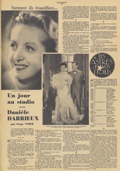 Article sur Danielle Darrieux (Pour Vous 30.05.1935)