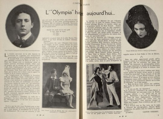 l'Olympia, music-hall (Cinémagazine 1930)