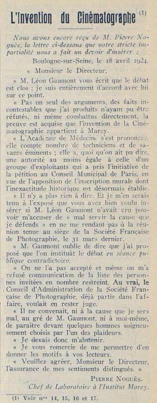 L'Invention du Cinématographe
