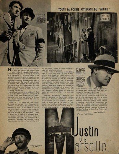Justin de Marseille (Cinémagazine 04 avril 1935)