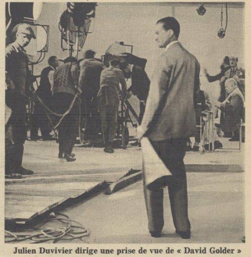 Julien Duvivier sur le tournage de David Golder (Pour Vous 1931)