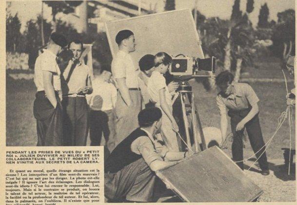 Tournage de Poil de Carotte de Duvivier dans Pour Vous du 16 novembre 1933