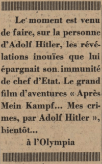 Le Journal 12 mars 1940