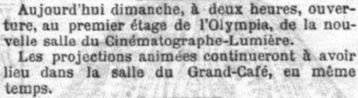Le Petit Parisien du 22 mars 1896