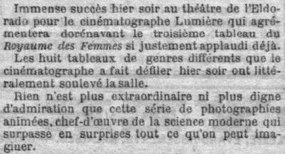 Le Petit Parisien du 27 mars 1896