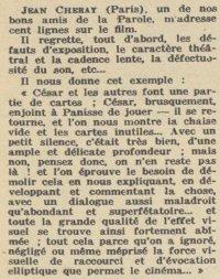 Pour Vous daté du 10 décembre 1936