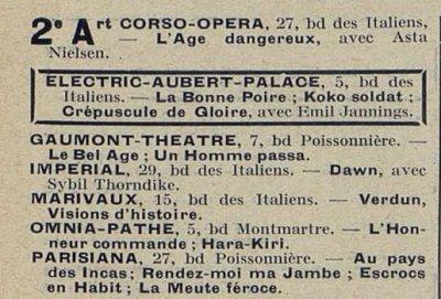 Cinémagazine du 23 novembre 1928