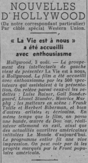 Ce Soir du 04 août 1937
