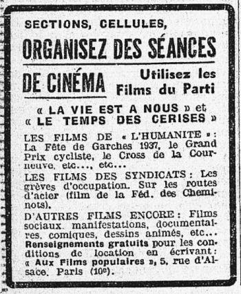 L'Humanité du 07 janvier 1938