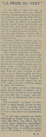 Cinémagazine du 10 décembre 1926