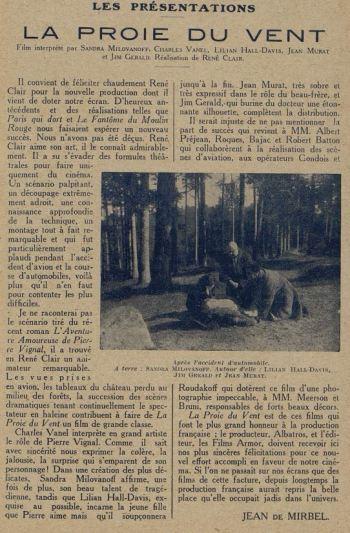Cinémagazine du 31 décembre 1926